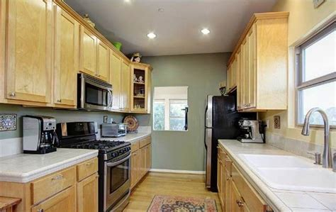 examples  galley kitchen lighting