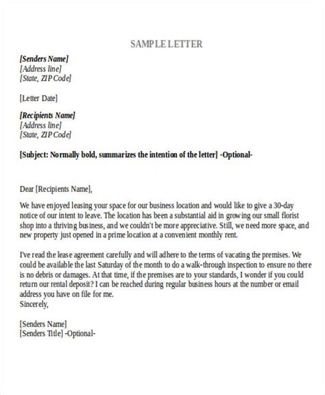 cancellation letter sle rent contract letter sle sle letter cancellation lease