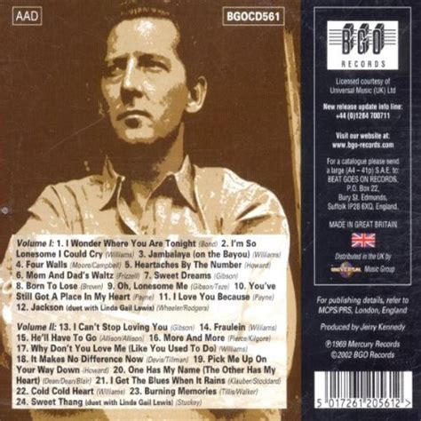 Jerry lee lewis sings the country music hall of fame hits vols 1 amp 2