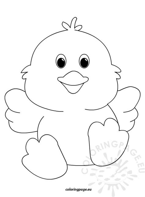 free coloring pages of chick template
