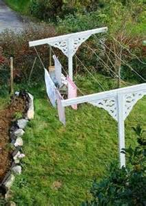 Clotheslines For Small Backyards Just Seems Like Fun On Pinterest Petticoats Ceiling