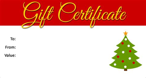 christmas printable voucher templates christmas gift certificate template 16 word pdf