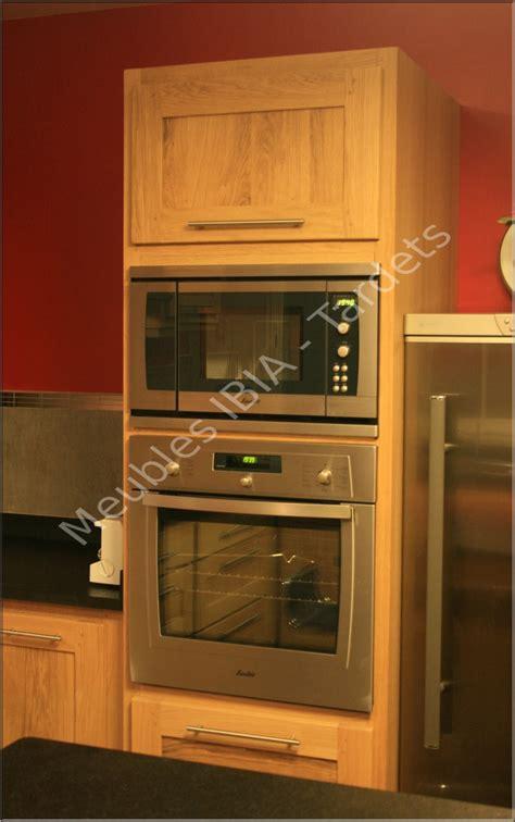 meuble cuisine colonne four micro onde cuisine 171 meubles ibia tardets