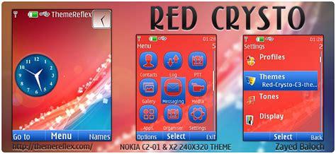 theme nokia c2 03 original red crysto theme for nokia x2 00 c2 01 x3 240 215 320