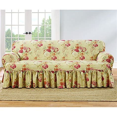 Sure Fit 174 Ballad Bouquet By Waverly T Cushion Sofa Waverly Sofa Slipcovers