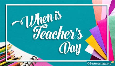 when is teachers day 2017 2018 2019 and 2020