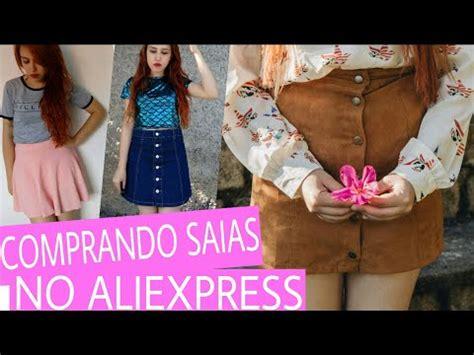 comprando saias no aliexpress comprando roupa em site