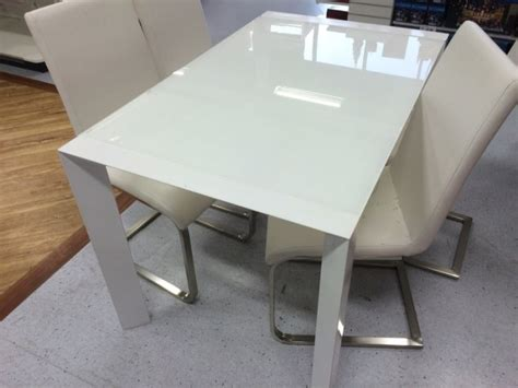 white top tempered glass dining room table for sale in
