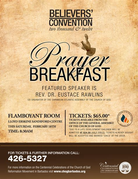 Church Of God Events Prayer Flyer Template