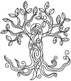 tree goddess urban threads unique awesome embroidery designs