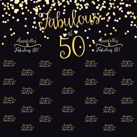 backdrop design for 50th birthday fabulous 50 birthday personalized photo backdrop