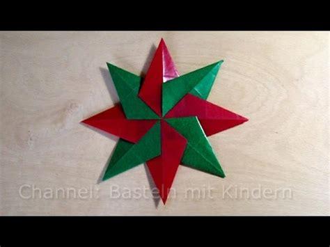 weihnachtssterne basteln einfachen stern fuer weihnachten