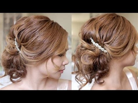 summer wedding updo hair tutorial