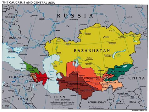 central asia map central asian maps