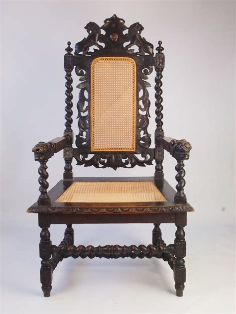 large throne chair large antique revival throne chair