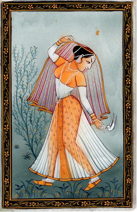 Handmade Painting - indian rajasthan miniature handmade ethnic decor