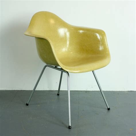 charles eames armchair mid century light ocher lax armchair by charles ray