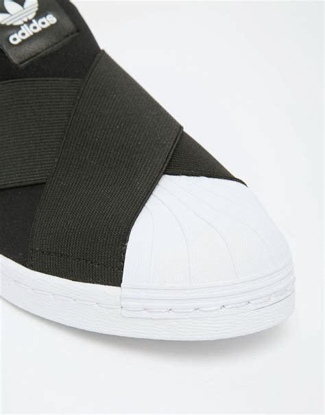 Adidas Superstar Slip On 4 adidas originals black superstar slip on trainers sneaker store 95gallery