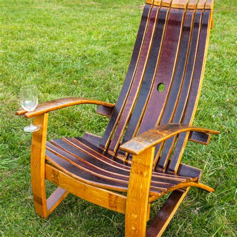 Wine Adirondack Chair by Wine Barrel Chair