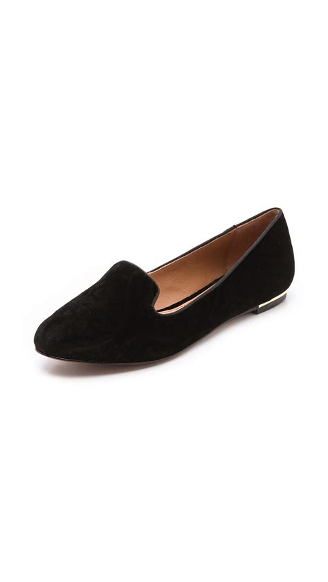 velvet loafer lyst zoe zahara velvet loafers in black