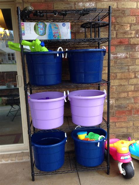 backyard outdoor storage great for water guns