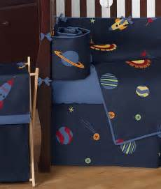 Galaxy Crib Bedding Sweet Jojo Designs Navy Blue Outer Space Stars Planets