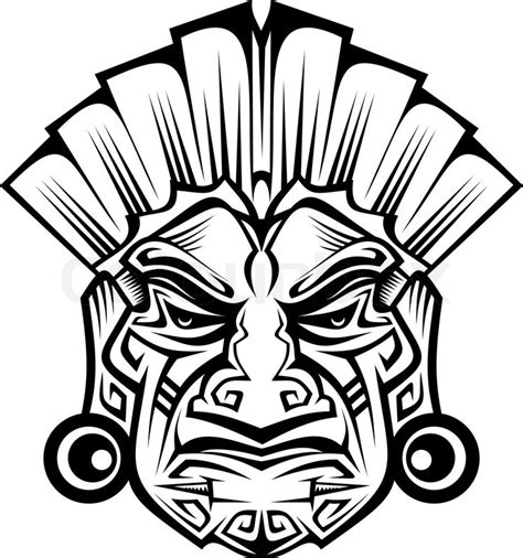 ancient ceremony mask isolated  stock vector