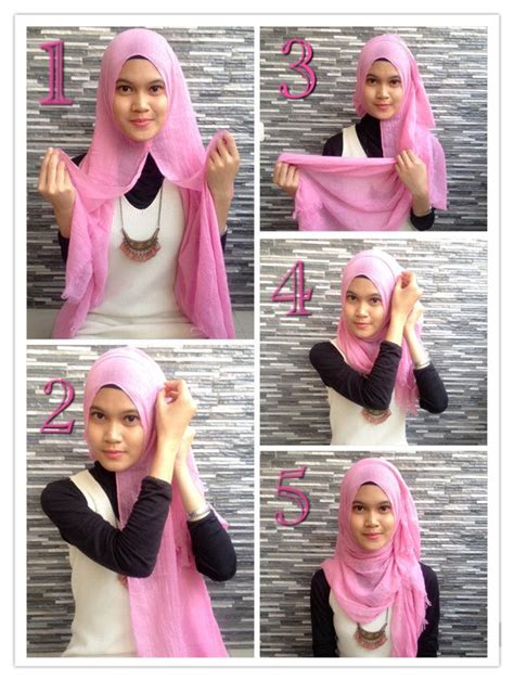tutorial berhijab simple untuk remaja 17 best ideas about hijab styles on pinterest hijabs