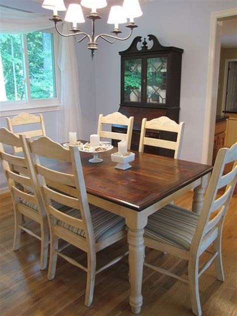 Refinishing Dining Room Chairs Refinishing A Dining Room Table 1000 Ideas About Refinished Dining Circle
