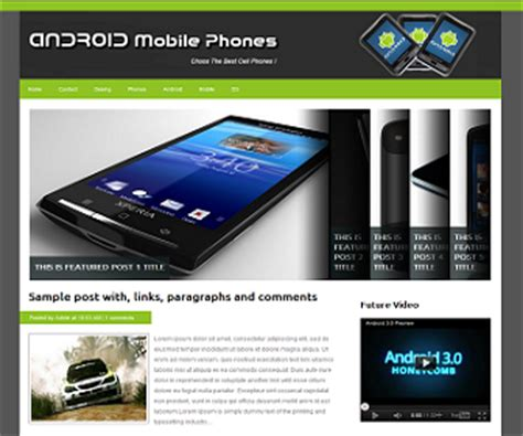 templates blogger android android mobile phones blogger template ivythemes com