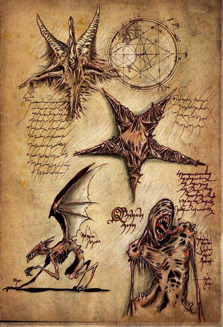 Necronomicon Page Lovecraft Pinterest