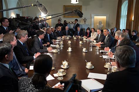 Who Formed The Presidential Cabinet by President Obama Holds Cabinet Meeting Of Second Term