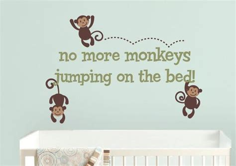 no more monkeys jumping on the bed wall art no more monkeys jumping on the bed wall decal set