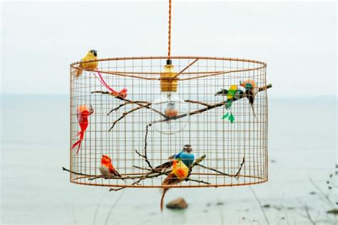 aviary lighting for finches copper birdcage pendant light chandelier id lights