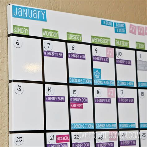 make family calendar family magnetic white board calendar with free printable