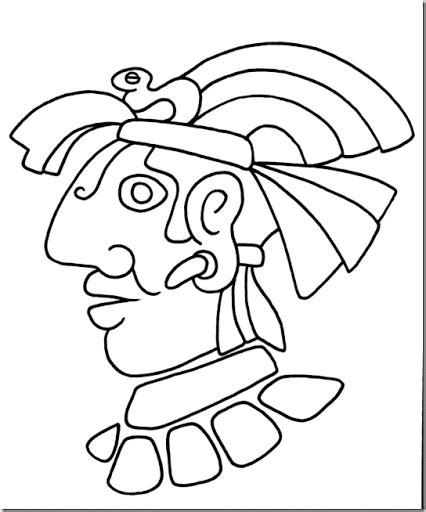 imagenes mayas faciles colorear aztecas y mayas colorear dibujos infantiles