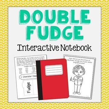 fudge book report fudge interactive notebook novel unit study