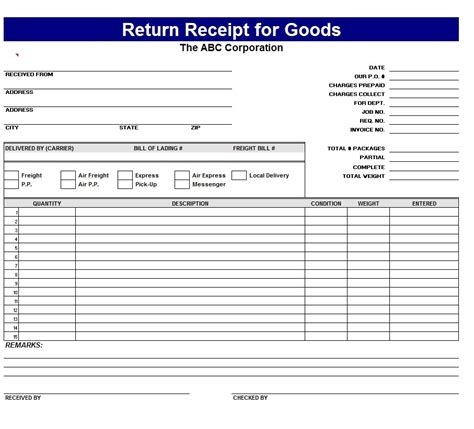 receipt form template free receipt templates page 2 of 3 word excel formats