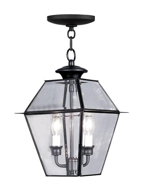 Chain Light Fixture Livex Westover Black 2 Light Outdoor Chain Hang Lighting Fixture L 2285 04 Ebay