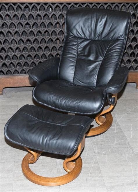 swedish leather recliners swedish design black leather recliner with ottoman made in