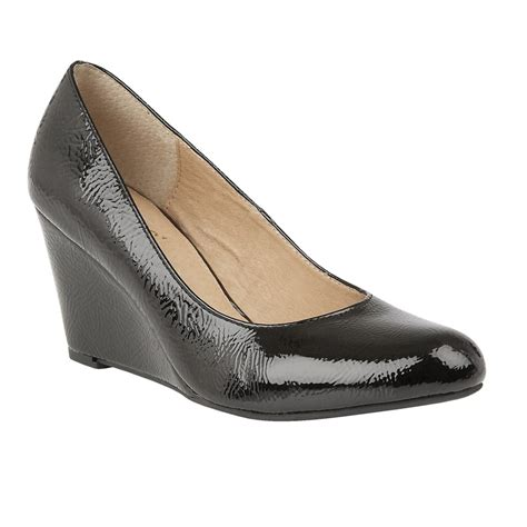 buy the lotus ladies blaise wedged court shoe in black