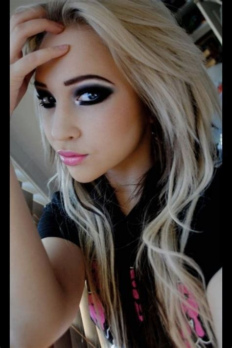 blonde hairstyles with makeup love the hair eye make up so whats wrong with blonde