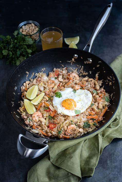 indonesian fried rice nasi goreng  prawns