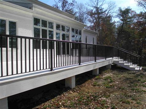 Wrought Iron Handrails Uk Contemporary Deck Railings And Step Rails In Williamsburg