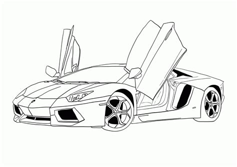 free coloring page of a car car coloring page lamborghini aventador 374623 171 coloring