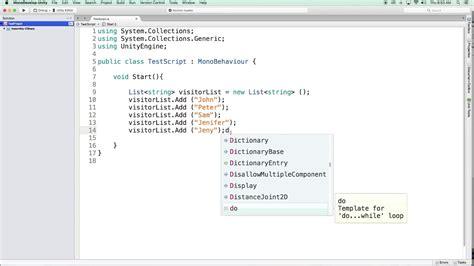 unity tutorial list list class tutorial 10 c programming basics unity