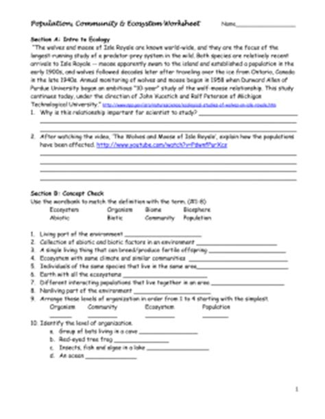 Ecology Review Worksheet 2 by Studylib Net Essys Homework Help Flashcards Research