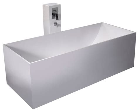 adm white stand alone solid surface resin bathtub