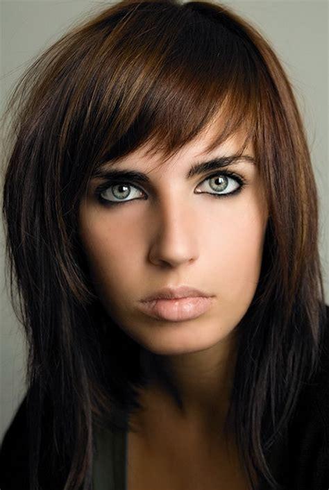 medium length hairstyles brunette