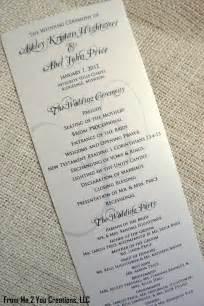 simple wedding programs exles sample wedding program 4x10 metallic ecru